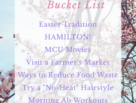 April Bucket List