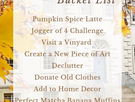 2018 September Bucket List