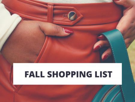 2018 Fall Shopping List