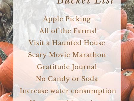 2018 October Bucket List