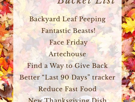 2018 November Bucket List