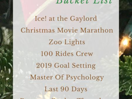 2018 December Bucket List