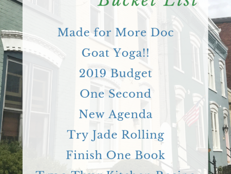 2019 January Bucket List