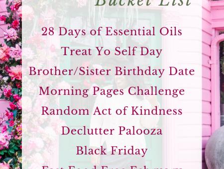 2019 February Bucket List