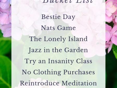 2019 June Bucket List