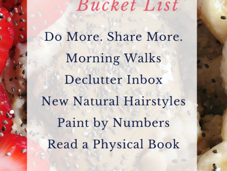 2020 June Bucket List