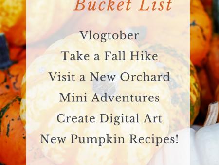 2020 October Bucket List